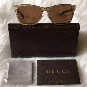 Gucci Gold GG sunglasses